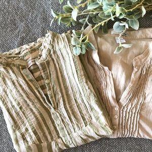 Tuxedo front blouse bundle!